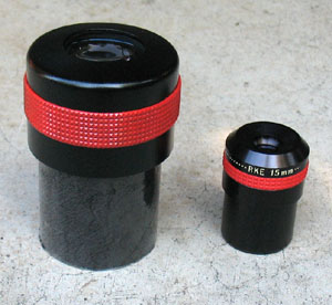 Big and little eyepieces